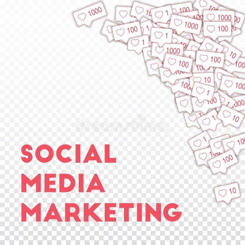 社会媒介象 概念社会营销媒体 皇族释放例证