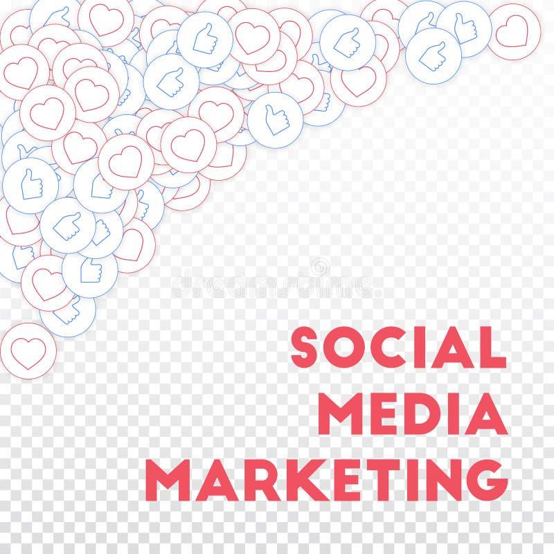 社会媒介象 社会营销媒体 向量例证