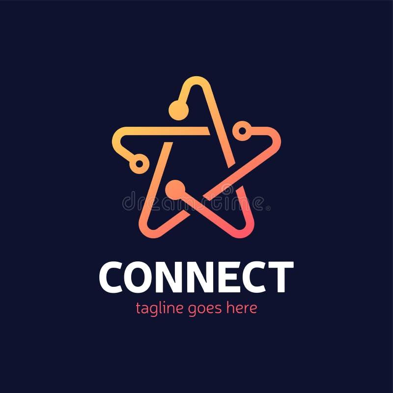 社会媒介,互联网,人们连接星略写法网络ide 库存例证