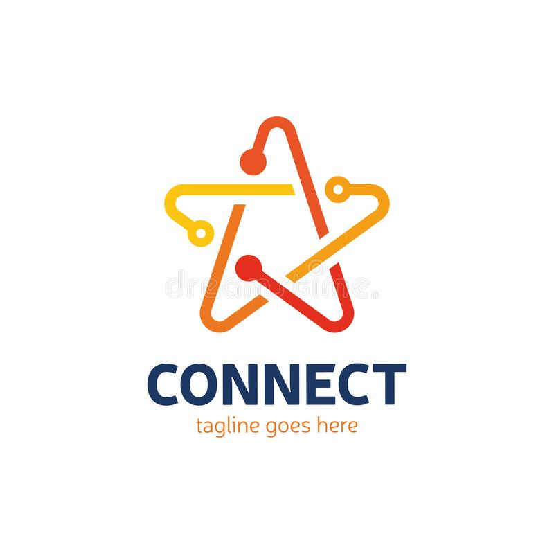 社会媒介,互联网,人们连接星略写法网络ide 向量例证