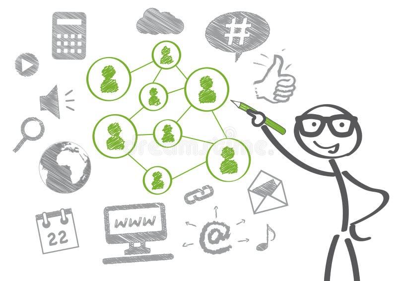 社会媒体概念 向量例证
