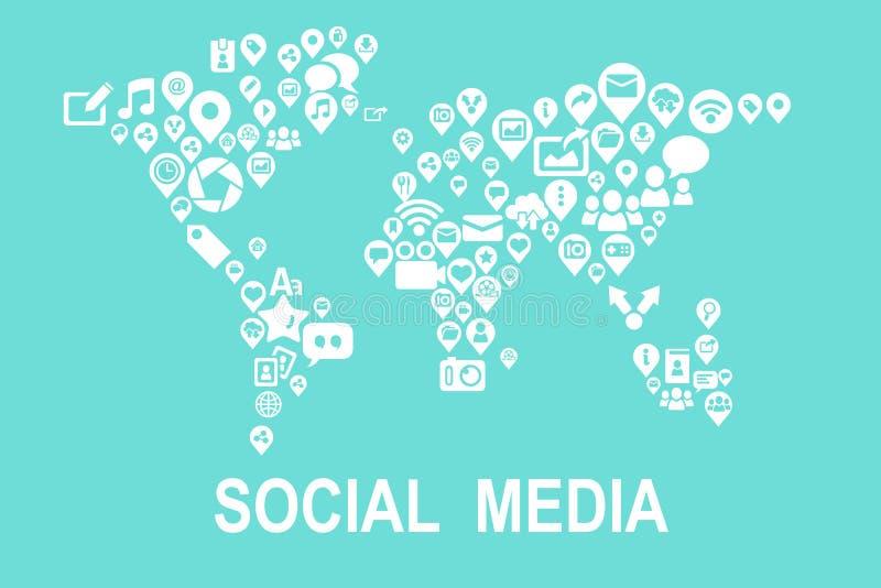社会媒体概念 库存例证