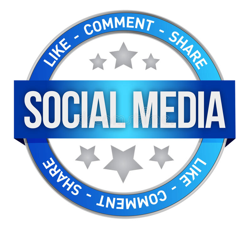 社会媒体符号 库存例证