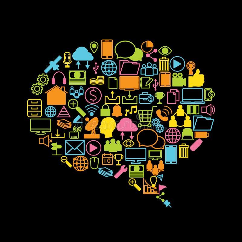社会媒介、背景和象 向量例证