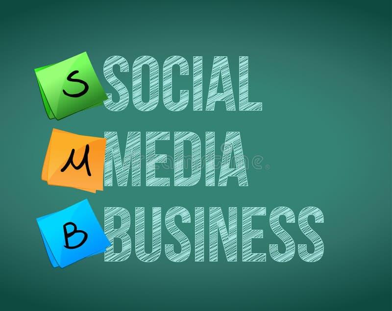 社会媒介事务 向量例证