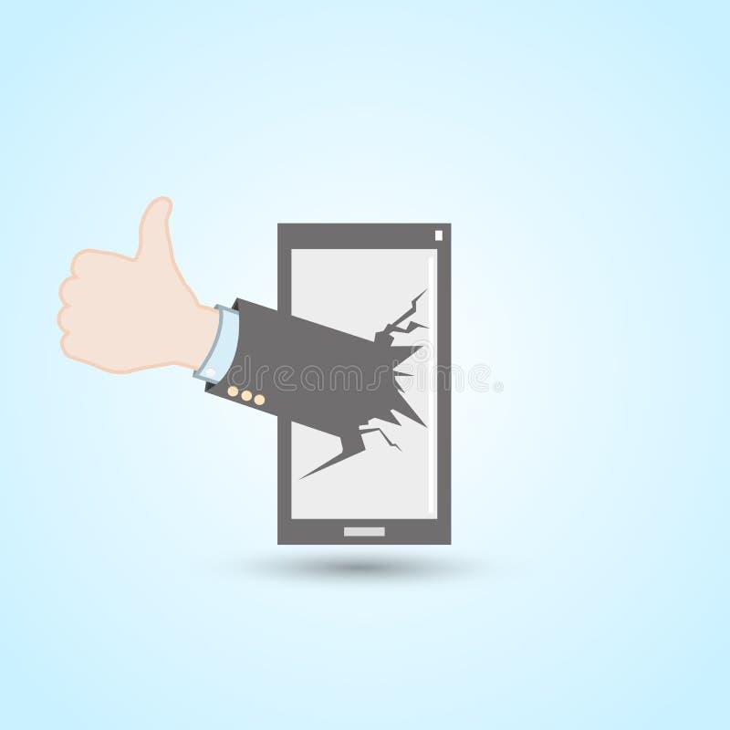 社会媒介手机 库存例证