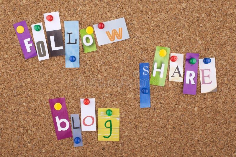 社会媒介概念标志和词 免版税库存照片