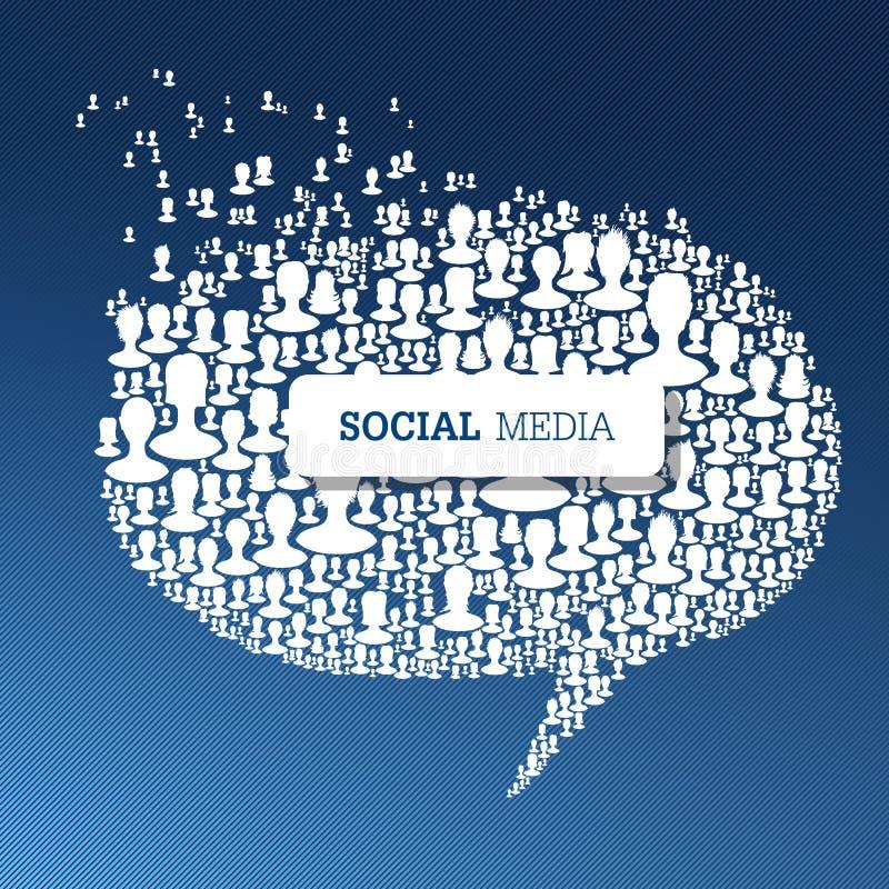 社会媒介泡影讲话概念 向量例证