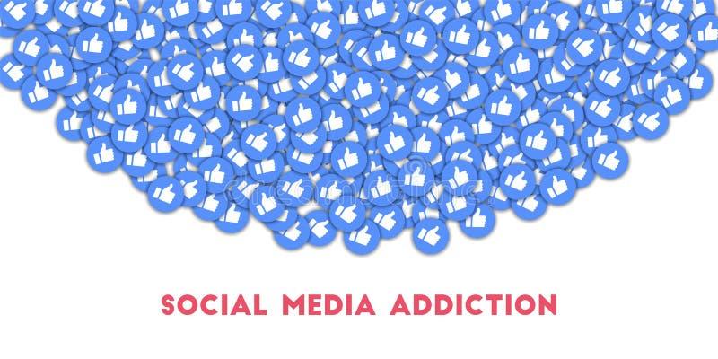 社会媒介瘾 皇族释放例证