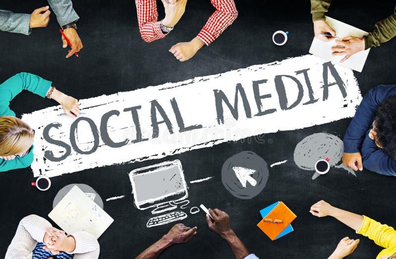 社会媒介社会网络技术连接概念 图库摄影
