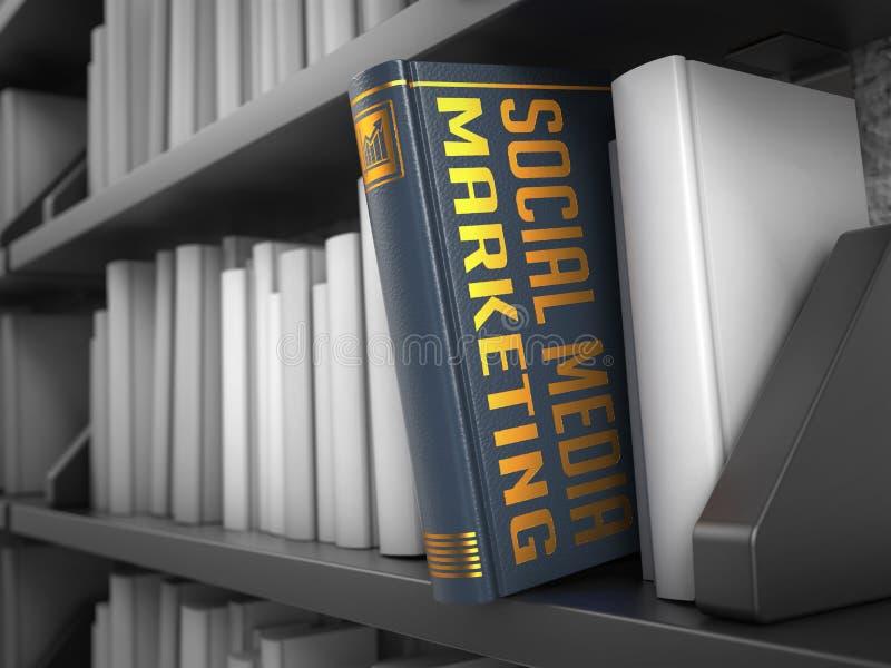 社会媒介营销-书的标题 免版税库存图片