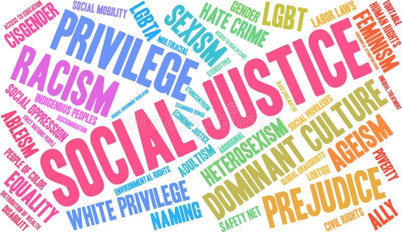 社会正义词云彩 向量例证