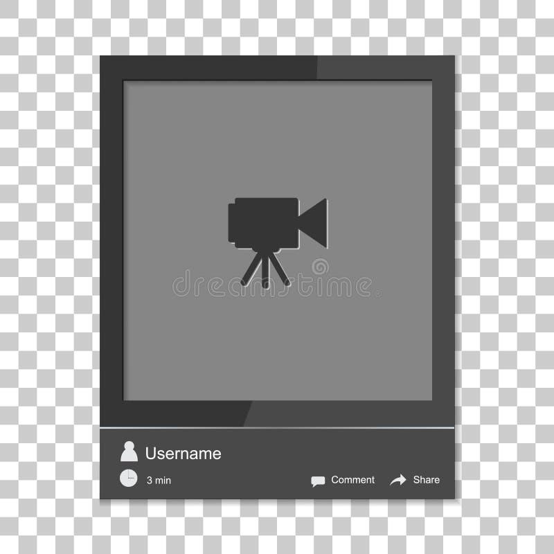 社会照片框架 与模板框架联系 插入您的pi 皇族释放例证
