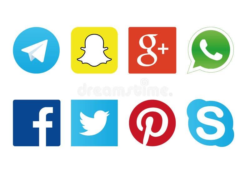 社会网络商标 库存例证