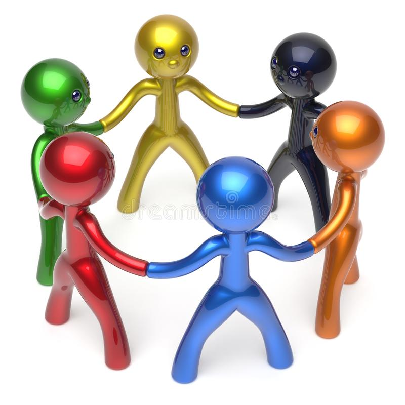 社会网络字符配合人力资源圈子 库存例证