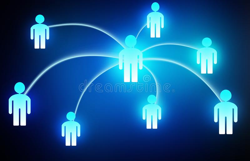 社会网络概念人媒介例证 向量例证