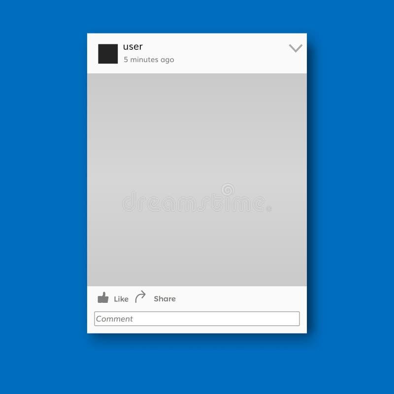 社会网络照片框架传染媒介例证 皇族释放例证