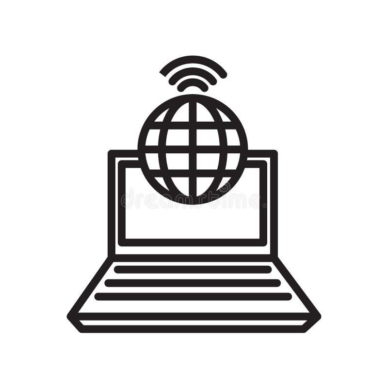 社会网络象在白色bac隔绝的传染媒介标志和标志 向量例证