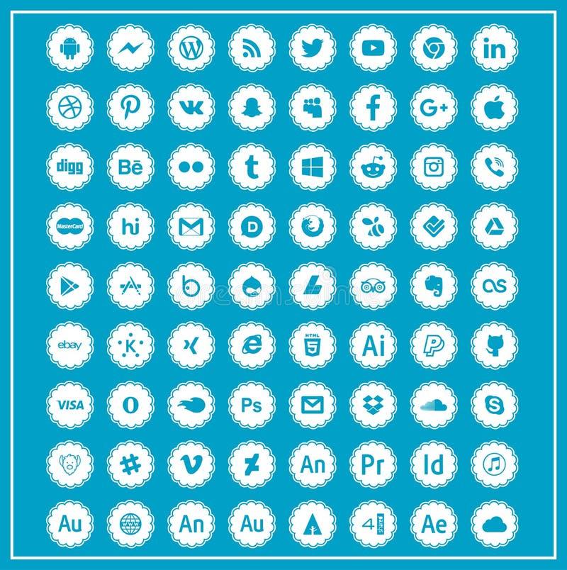 社会网络象小组 向量例证