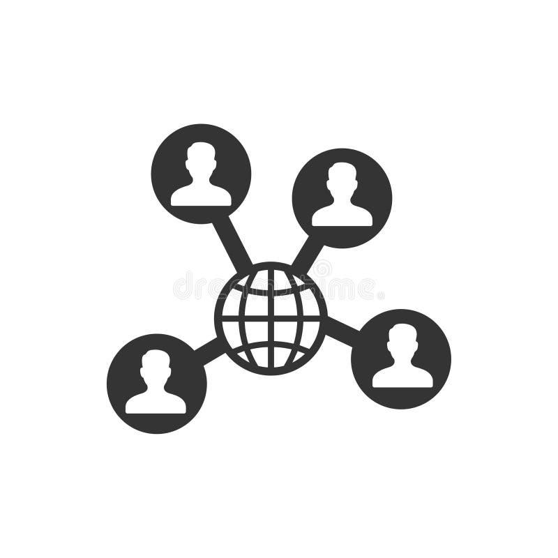 社会网络象 库存例证
