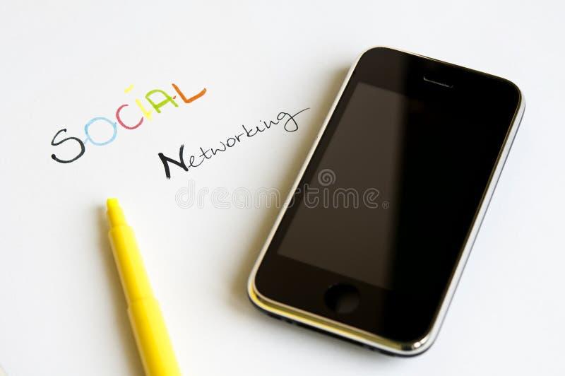 社会网络连接概念 库存照片