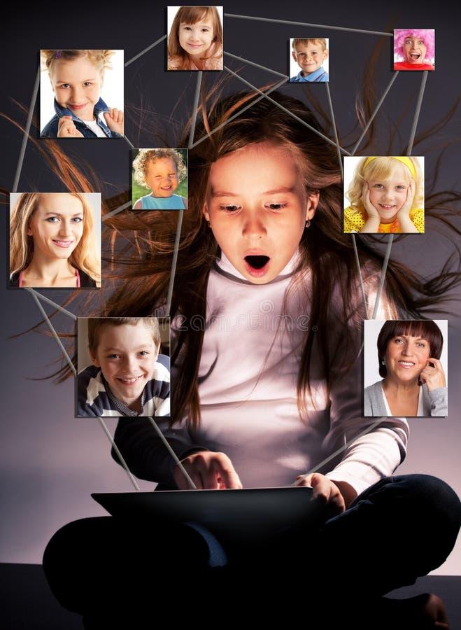 社会网络 库存图片