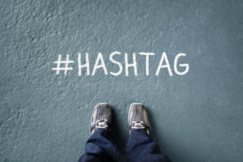 社会网络hashtag 免版税库存图片