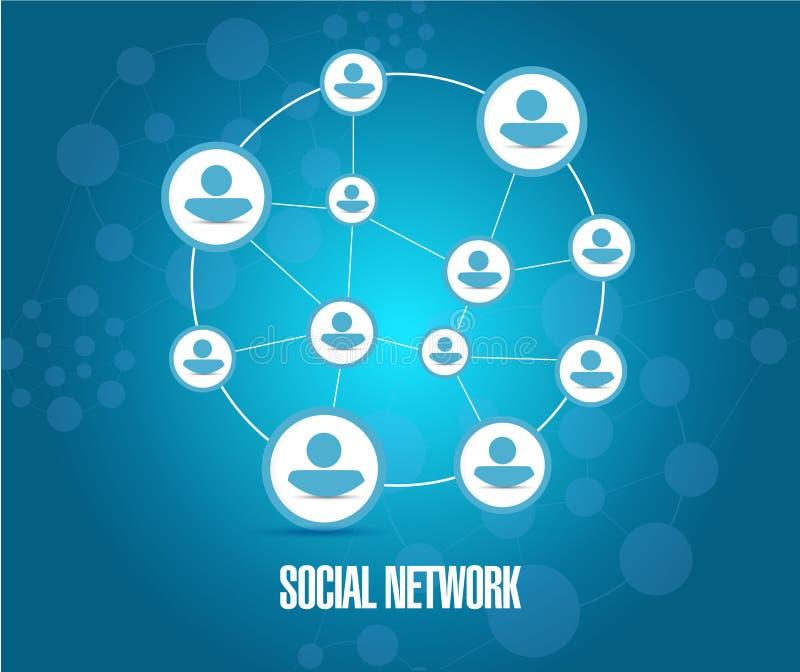 社会网络图例证 皇族释放例证