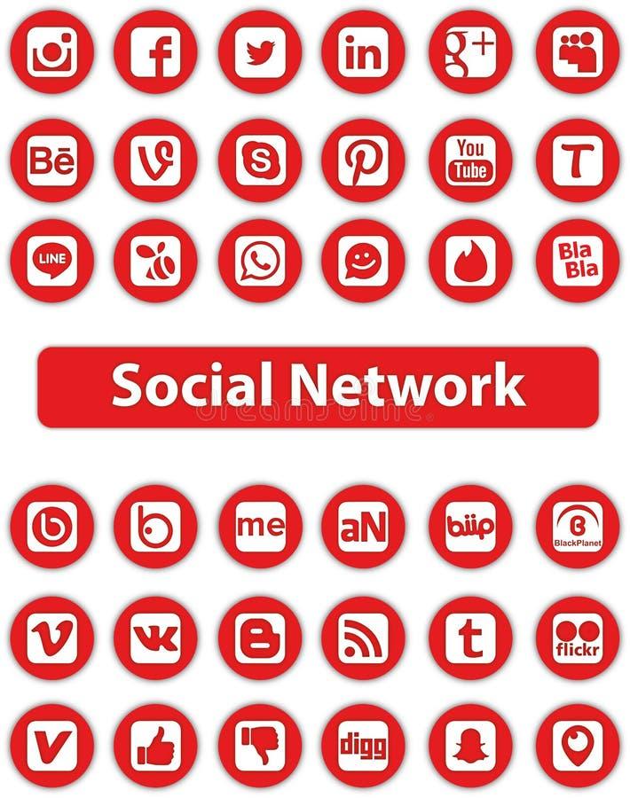 社会网络图标 皇族释放例证