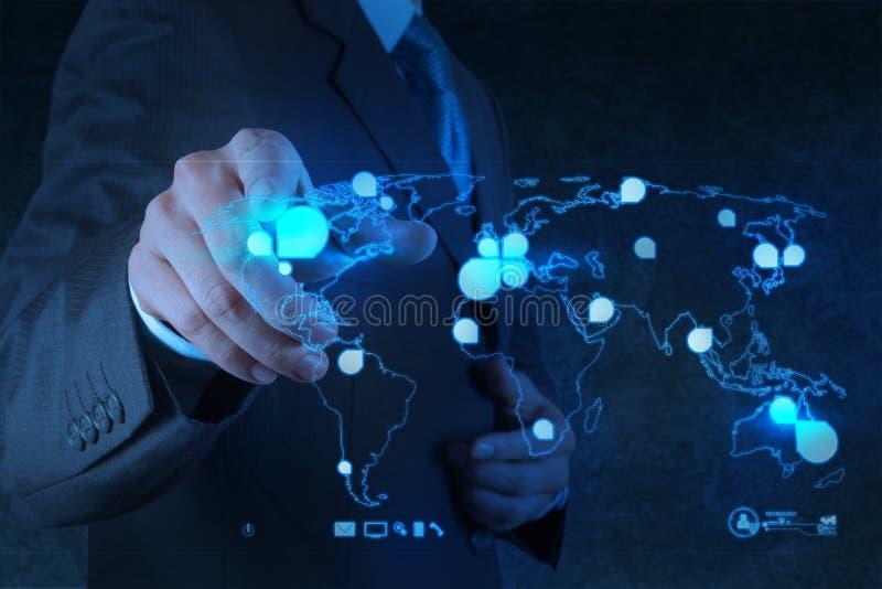 社会网络结构 免版税库存图片