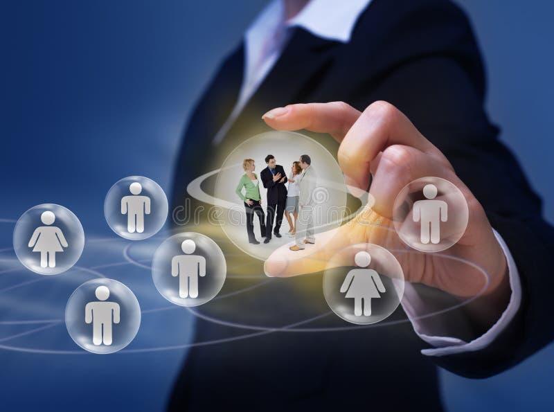社会网络概念 免版税图库摄影