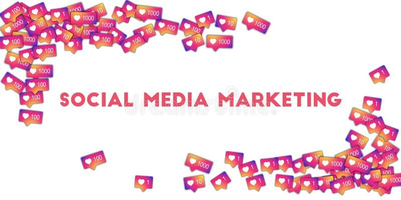 社会营销媒体 皇族释放例证