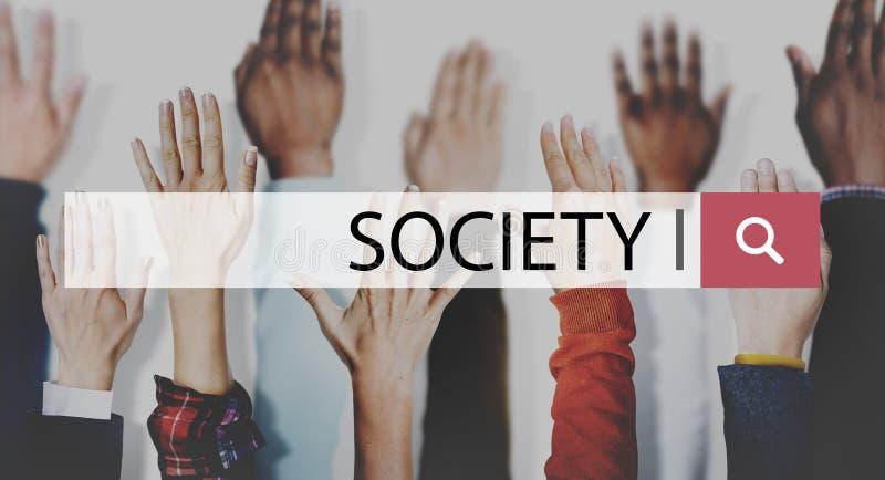社会连接变化公共人的手概念 免版税库存照片
