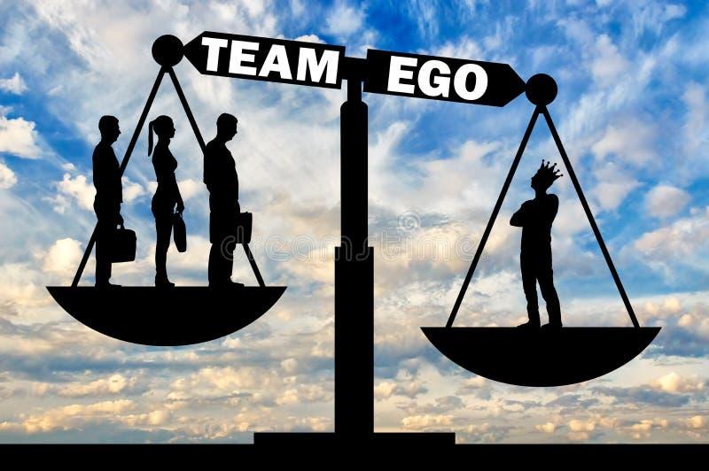 社会问题的概念作为自我的 向量例证