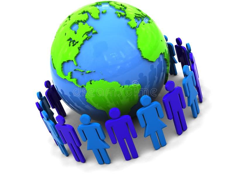 社区世界 向量例证