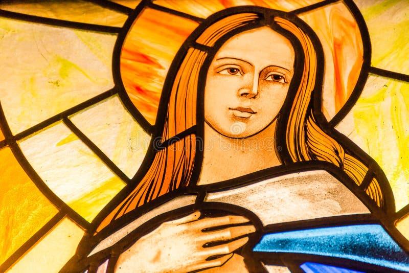 社论,保佑的圣母玛丽亚 免版税库存图片