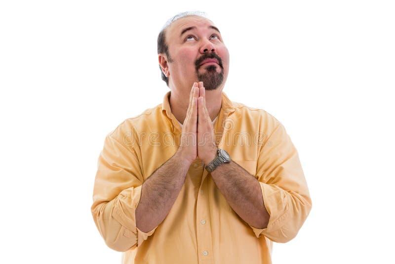 祈祷为启发的人 图库摄影