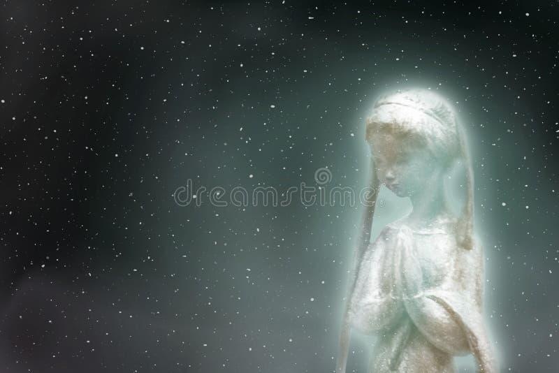 祈祷在宇宙的精神 库存照片