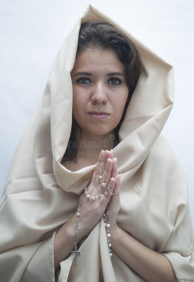 祈祷对妇女的神 图库摄影