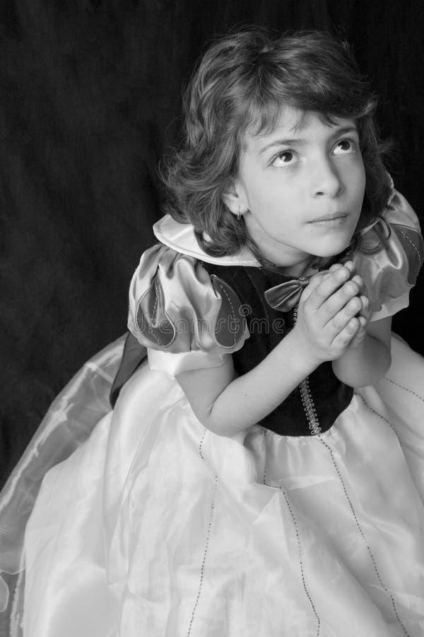 祈祷的儿童神 库存图片