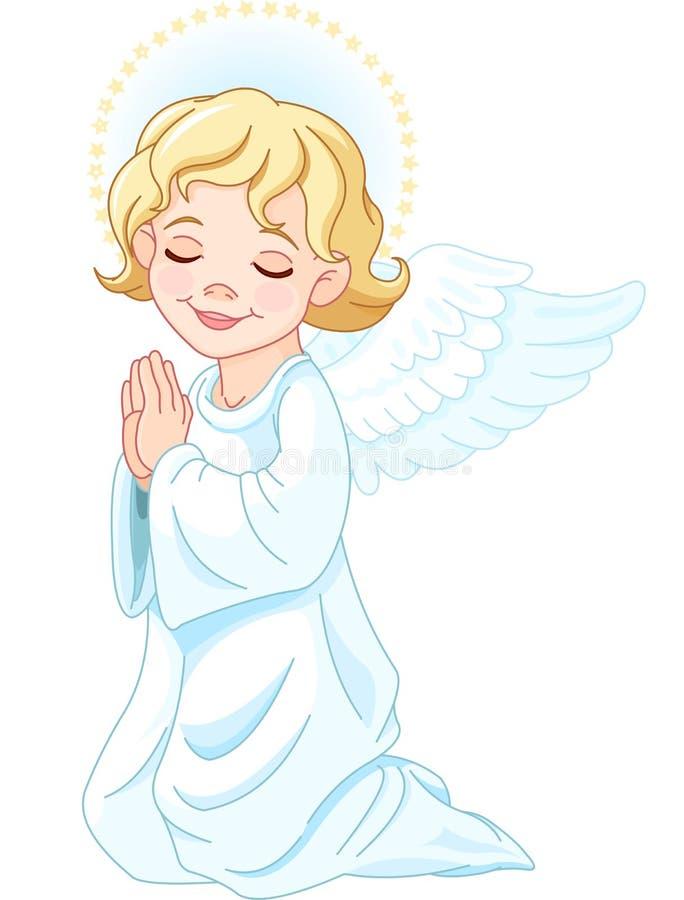 祈祷的天使 皇族释放例证