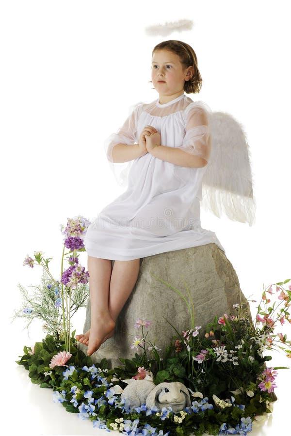 祈祷的天使 库存照片