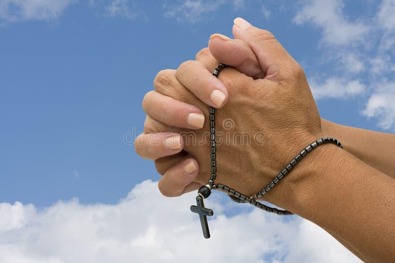 祈祷的念珠 免版税库存图片