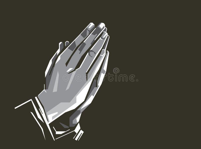 祈祷的手传染媒介例证/eps 向量例证