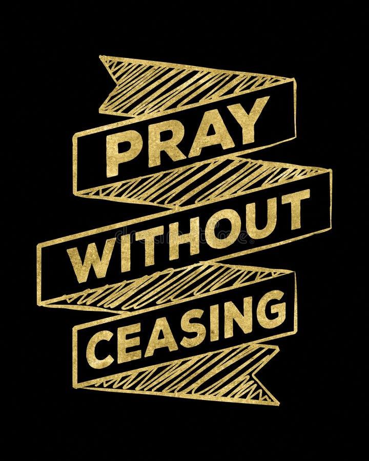 祈祷,无需停止 皇族释放例证