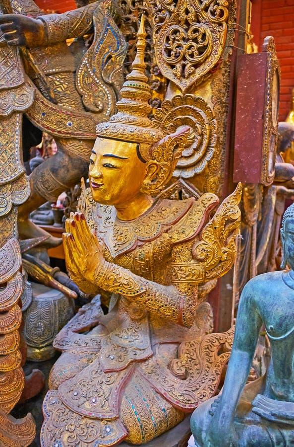 祈祷nat神雕塑,曼德勒,缅甸 免版税库存照片