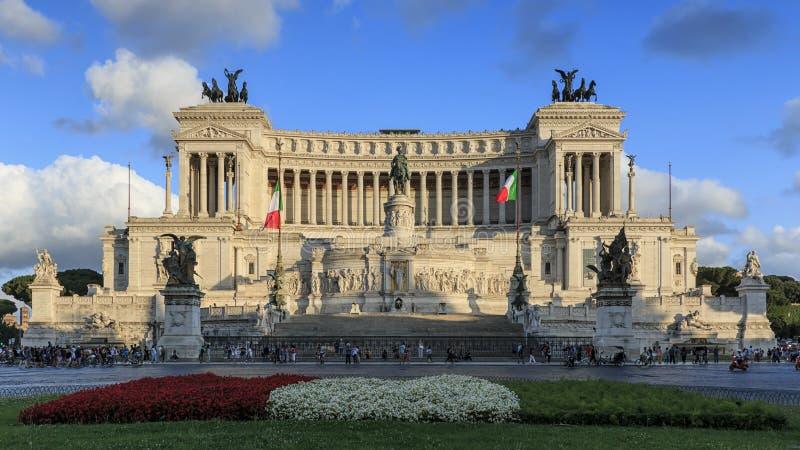 祖国的法坛,阿尔塔雷della Patria,亦称对胜者伊曼纽尔的国家历史文物II在罗马意大利 库存照片
