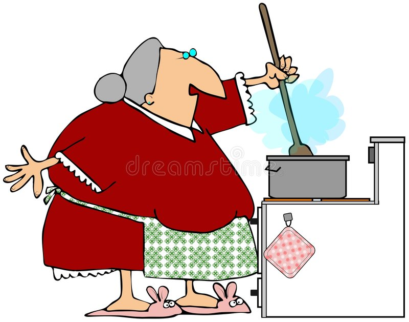 祖母小汤搅拌