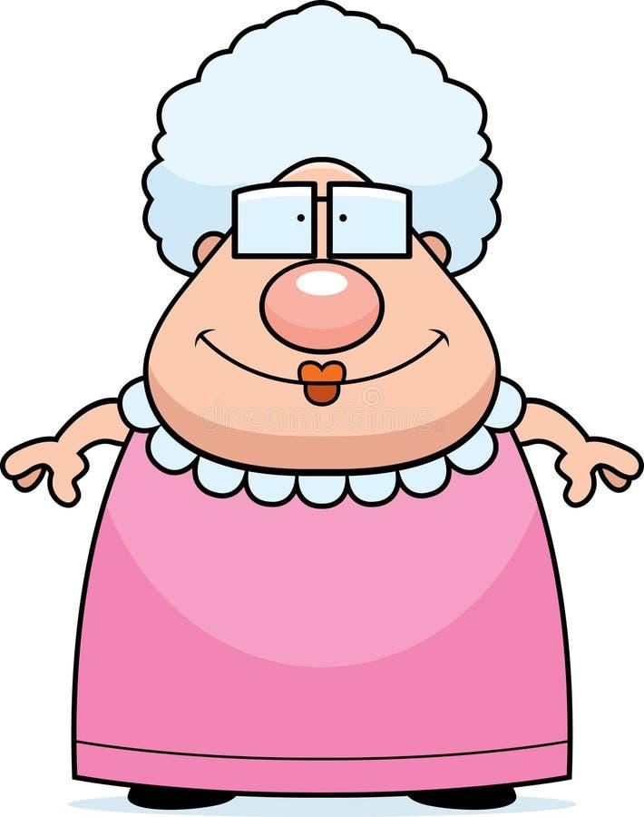 祖母微笑 向量例证