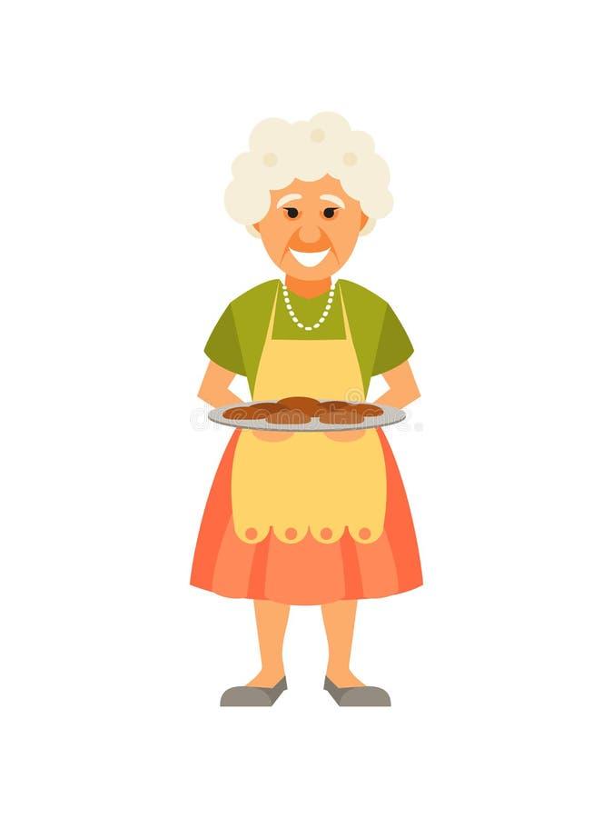 祖母用饼 库存例证